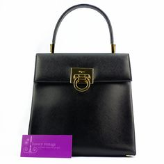 S.Ferragamo Vintage Bag Good Condition Ref.code-(BVLRE-2) More Information Pls Email  (- luxuryvintagekl@ gmail.com )