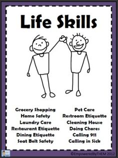 16 Page Packet On Basic Life Skills For Special Education. Incorporates: Cover Sheet Seat Belt Safety Restroom Etiquette Pet Care Cleaning House Doing Chores Calling 911 Calling In Sick Grocery Shopping Home Safety Laundry Care Restaurant Etiquette Dining Life Skills Lessons, Life Skills Activities, Life Skills Classroom, Teaching Life Skills, Autism Classroom, Special Education Classroom, Future Classroom, Teaching Tools, Art Education