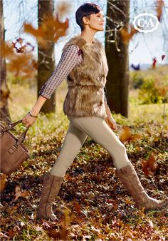 It's the season of change, when forests glow orange and cities sparkle. Who What Wear, Fasion, Knee Boots, Seasons, Forests, Cities, Sweaters, Glow, How To Wear
