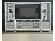 "Monroe 4pc Media Center W/66"" TV Console"
