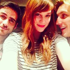 Elizabeth Lail: The selfie version. Thankful on this Canadian thanksgiving for these lovely folks #ouat