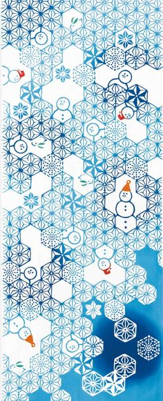 Japanese Tenugui cotton towel fabric. Winter pattern / Kawaii snowman design. High quality tenugui fabrics made of soft 100% cotton cloth and hand dyed by Japanese master dyers. [ H o w T o U s e ] * towel * washcloth * dishcloth * headband / bandanna * scarf * wall hanging (like a painting or textile) * wrapping * place mat * table runner / center piece * book jacket, and... MORE! Enjoy your own unique way! [ M a t e r i a l ] Cotton 100% [ D i m e n s i o n s ] 36 × 90cm &...