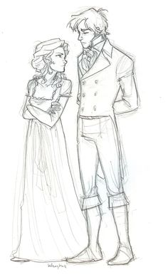 First Impressions by burdge-bug.deviantart.com  Elizabeth Bennet and Mr. Darcy