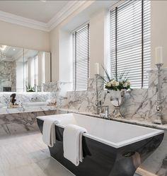"Freestanding Tub Ideas. This tub is the ""La Belle"" by Villeroy and Boch. #FreestadingBath # VilleroyandBoch #Bathroom"