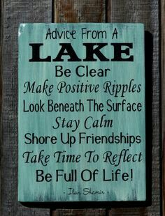 Lake Life Quotes 36 Best Lake Quotes images | Lake signs, Lake house signs, Boating fun Lake Life Quotes