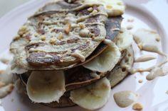 Banana Nut Pancakes  #healthy #healthyrecipe #food #recipe #pancakes #banana #nut