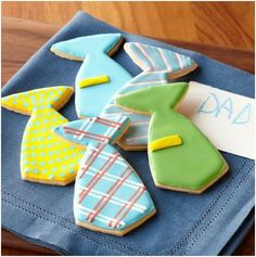 cake ideas for father's day | Father's Day Tie Cookies