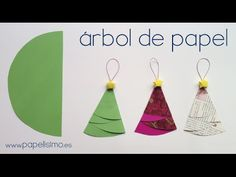 Ideas que mejoran tu vida Crafts For Kids, Arts And Crafts, Paper Crafts, Paper Tree, Christmas Paper, Christmas Tree Decorations, Christmas Crafts, Projects To Try, Holiday