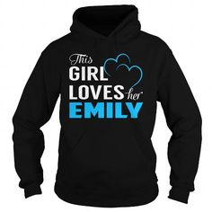 Make this funny name shirt This Girl Loves Her EMILY Name Shirts as a great for you or someone who named Emily