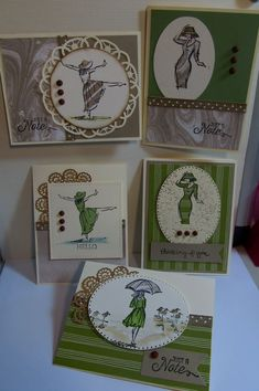 Beautiful You stamp set from Stampin' Up. Wild Wasabi, Very Vanilla and Crumb Cake papers and inks. Stampin Up Anleitung, Stampin Up Karten, Stampin Up Cards, Card Patterns, Pretty Cards, Custom Cards, Paper Cards, Cool Cards, I Card