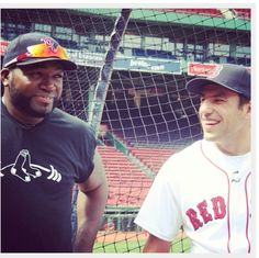 Big Papi and Milan Lucic...omg My favorite hockey player and my favorite baseball player in the same picture?! This is great lol