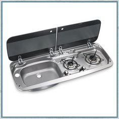 Smev 9222 - Dometic HSG 2370 Combination Hob and Sink – Camper Interiors Vw T5, Vw T3 Syncro, Mini Camper, Vw T3 Camper, Camper Trailers, Pickup Camper, Truck Camping, Van Camping, Camping Hacks