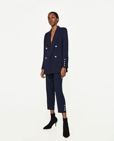 ZARA - WOMAN - SKINNY TROUSERS WITH PEARLED DETAIL