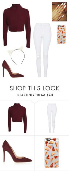 """""""Meeting Caitlin"""" by millyandmolly ❤ liked on Polyvore featuring Topshop, Gianvito Rossi, Casetify and Charlotte Russe"""