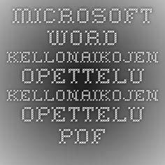 Microsoft Word - Kellonaikojen opettelu - Kellonaikojen opettelu.pdf