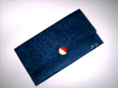 Clutch Purse Navy Blue Scroll Unique Red and by JunebugOriginals, $29.75