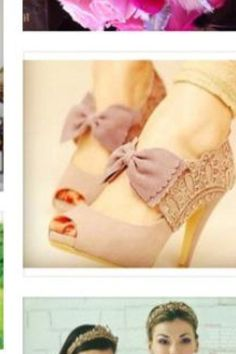 """""""I Know That You Like My Style"""" / pink bow pumps with lace. Cute Shoes, Me Too Shoes, Pretty Shoes, Awesome Shoes, Zapatos Shoes, Shoe Closet, Crazy Shoes, Weird Shoes, Mode Inspiration"""