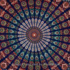 Hippy Throw Mandala Tapestry Indian Wall Hanging Bohemian Queen Bedsheet Sofa Bedspread Hippie Wall Art Beach Coverlet College Dorm Decor