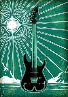 Arctic #guitar #illustration