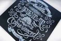 Chalk handlettering on board by Aurelie Maron