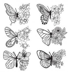 Drawing and drawing with butterfly drawing by hand art with line art illustration . - Drawing and drawing with butterfly drawing by hand art with line art Premium Vector illustration - Natur Tattoos, Kunst Tattoos, Tattoo Drawings, Art Drawings, Tattoo Art, Drawing Art, Sketch Tattoo, Club Tattoo, Doodle Tattoo