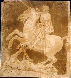 Antonio Pollaiuolo (Italian, ca. 1432–1498) Study for an Equestrian Monument, ca. 1482–83. Italian, Florence. The Metropolitan Museum of Art, New York. Robert Lehman Collection, 1975 (1975.1.410) #Olympics #London2012 | This study for an unexecuted equestrian monument by the Florentine painter, sculptor, engraver, and goldsmith Antonio Pollaiuolo is among the most celebrated drawings in the Robert Lehman Collection.