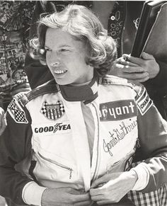 Janet Guthrie is a retired professional race car driver and the first woman to qualify and compete in both the Indianapolis 500 and the Daytona 500.