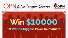 OPN Challenger Series brings a chance for young and rising poker talents of India to win$10,000 worth entry to the main event of world's biggest tournament. The series starts on 7th Jan'16 with 5 players –Jaideep Sajwan, Vinay B, Abhinav Mahajan, Aashray Arood and Niwesh Sharma. A team of OPN will pick 5 players duringthe …