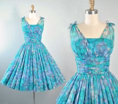 Vintage 50s Dress / 1950s CHIFFON Party by GeronimoVintage on Etsy