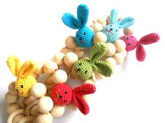 Organic Teething toy Crochet teether Wooden от bboutiquebeauties