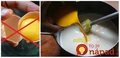 Rada, ktorú v kuchyni vyvážite zlatom: Takto nahradíte predražené vajcia v akomkoľvek recepte a na výsledku to nespoznáte! Baking Tips, Food And Drink, Eggs, Cooking Recipes, Treats, Breakfast, Sweet, Desserts, Pump