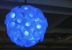 3D printed Pore lamp designed by Lionel T Dean