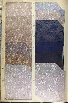 Textile Sample Book    Date:      1846  Culture:      French Met Museum