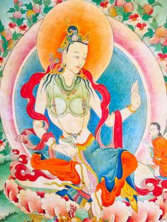 Yeshe Tsogyal Fresco ~ Samye Monastery, Tibet