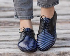 Leather shoes-Women Oxford flat Shoes-Women Shoes by BackToCool