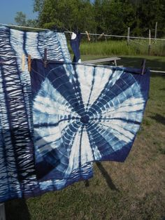 Indigo and shibori in Stephanie Robertson's Making Your Mark fabric printing and dyeing class at Sievers School.