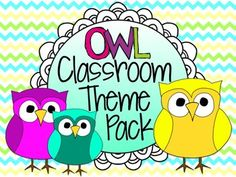 Owl Classroom Theme Pack $