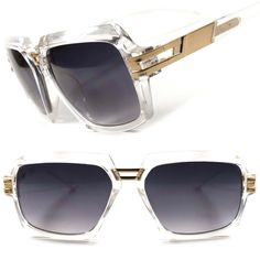 3e3cb5e7d543 Transparent Party Hip Hop DJ Mens Womens Retro Oversized Aviator Sunglasses  C35D  KISS  Square