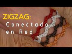 Pulsera de Hilo: ZigZag Conectado en Red - YouTube
