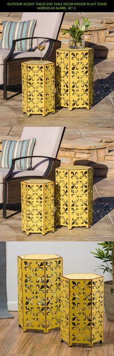 Outdoor Accent Tables End Table Decor Indoor Plant Stand Moroccan Barrel Set 2  #products #table #tech #kit #decor #fpv #technology #camera #parts #outdoor #drone #gadgets #plans #racing #shopping