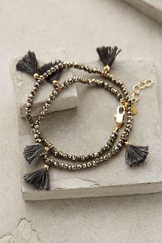 Shashi Fluttered Tassel Wrap Bracelet #accessories #bracelets #springstyle