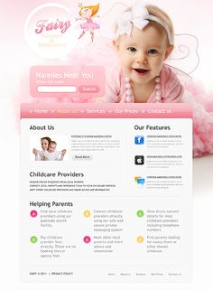 Babysitter Nurse Website Templates by Delta