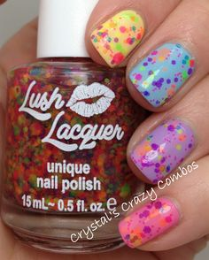 Crystal's Crazy Combos: Lush Lacquer - Neon Collection!