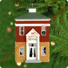 2000 Nostalgic Houses and Shops #17 Schoolhouse Hallmark Ornament at Hooked on Ornaments