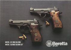 Brochure Beretta mod. 81 BB / 84 BB, 82 BB / 85 BB - 87 (1983) 32 Acp, Beretta 92, Firearms, Shotguns, Survival Weapons, Home Protection, Fire Powers, Gun Holster, Home Defense