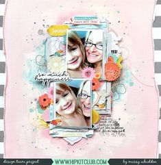 Hip Kit Club DT Project - 2018 June Hip Kits; Pinkfresh Studio Simple & Sweet collection; Bella Blvd papers, exclusive Project Life cards, Vicki Boutin Stamps, Shimmerz Paints