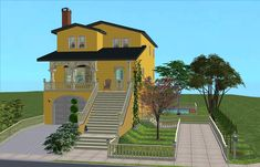 ModTheSims - 1 Pastel Way - Home Business Lot