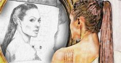 176/365 - Angelina in the mirror. PencilPixels Storybook and Pencil #3 Photoshop effects
