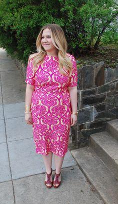 jacquard wiggle dress