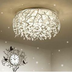 Incredible paper lamp - have a look at our article for way more good ideas! Crystal Room, Crystal Ceiling Light, Crystal Pendant Lighting, Cheap Pendant Lights, Pendant Chandelier, Chandelier Lighting, Ceiling Lights, Glass Ceiling, Cheap Chandelier